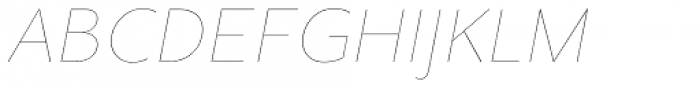 Clarika Grotesque UltraThin Italic Font UPPERCASE