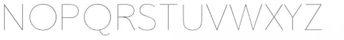 Clarika Grotesque UltraThin Font UPPERCASE