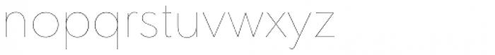 Clarika Grotesque UltraThin Font LOWERCASE