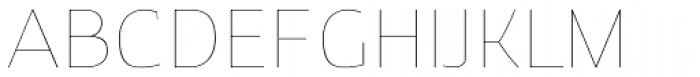 Clark Hairline Font UPPERCASE