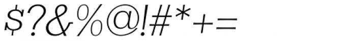 Clasica Slab Light Italic Font OTHER CHARS