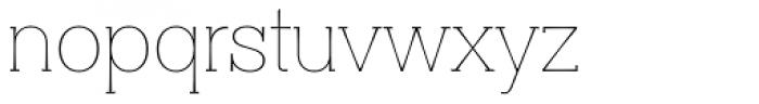 Clasica Slab Thin Font LOWERCASE