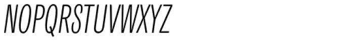 Classic Grotesque Pro Cm Light Italic Font UPPERCASE