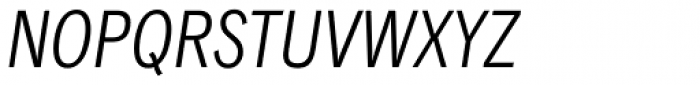 Classic Grotesque Pro Cn Book Italic Font UPPERCASE