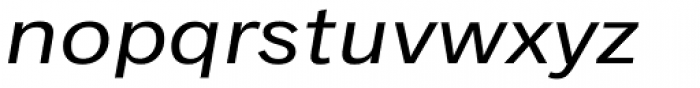 Classic Grotesque Pro Ext Italic Font LOWERCASE