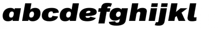 Classic Grotesque Pro Ext XBold Italic Font LOWERCASE