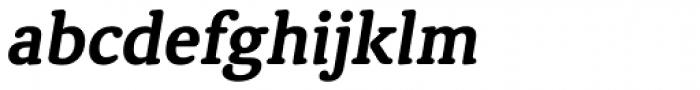 Classic Round Bold Italic Font LOWERCASE