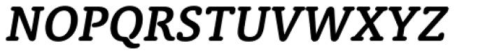 Classic Round Demi Italic Font UPPERCASE