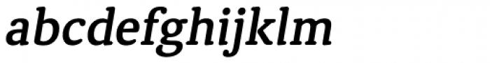 Classic Round Demi Italic Font LOWERCASE