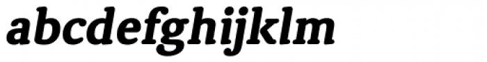 Classic Round Heavy Italic Font LOWERCASE