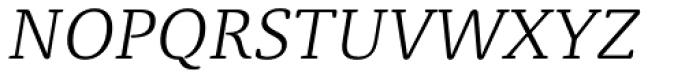 Classic Round Thin Italic Font UPPERCASE