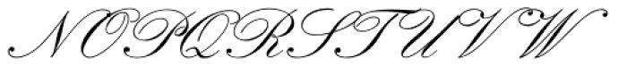 Classic Script MN Font UPPERCASE
