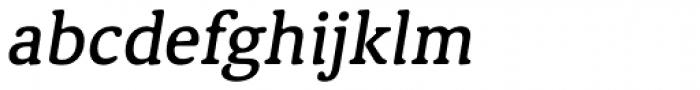 Classic XtraRound Medium Italic Font LOWERCASE