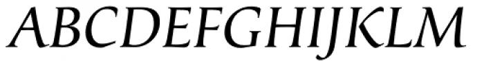 Classica Normal Italic Font UPPERCASE
