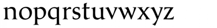 Classica Normal Font LOWERCASE