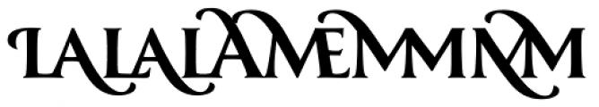 Classica Prestige D Bold Font LOWERCASE