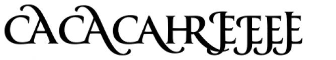 Classica Prestige D Medium Font UPPERCASE