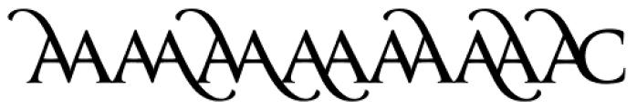 Classica Prestige D Normal Font UPPERCASE