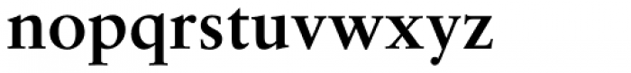 Classical Garamond Bold Font LOWERCASE