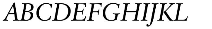 Classical Garamond Italic Font UPPERCASE