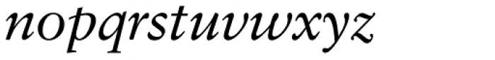 Classical Garamond Italic Font LOWERCASE