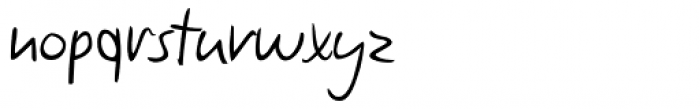 Claude Handwriting Font LOWERCASE