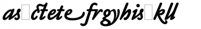 Claude Sans Bold Italic Alts Font LOWERCASE