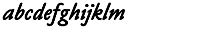 Claude Sans Bold Italic Font LOWERCASE