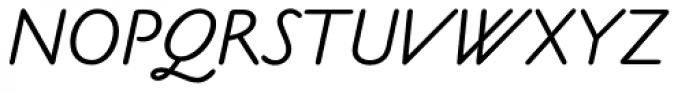 Claude Sans Italic Font UPPERCASE