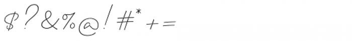 Clauques Script Light Font OTHER CHARS