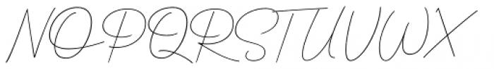Clauques Script Light Font UPPERCASE