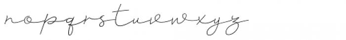 Clauques Script Light Font LOWERCASE