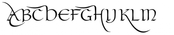Claustrum Swash Font UPPERCASE