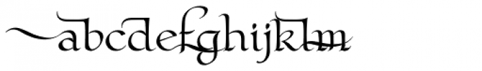 Claustrum Swash Font LOWERCASE