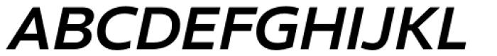 Clear Sans Bold Italic Font UPPERCASE