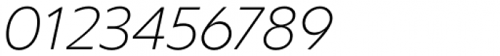 Clear Sans ExtraThin Italic Font OTHER CHARS
