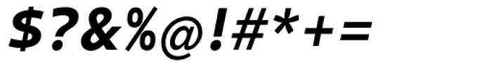 Clear Sans Screen Black Italic Font OTHER CHARS