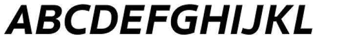 Clear Sans Screen Black Italic Font UPPERCASE