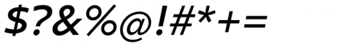 Clear Sans SemiBold Italic Font OTHER CHARS