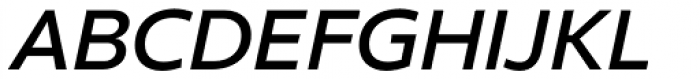 Clear Sans SemiBold Italic Font UPPERCASE