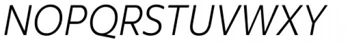 Clear Sans Text Light Italic Font UPPERCASE