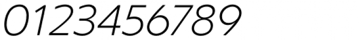 Clear Sans Thin Italic Font OTHER CHARS