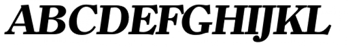 Clearface Serial ExtraBold Italic Font UPPERCASE