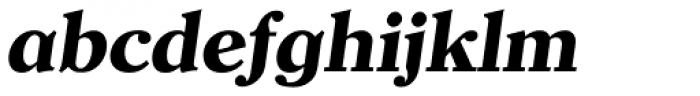 Clearface Serial ExtraBold Italic Font LOWERCASE