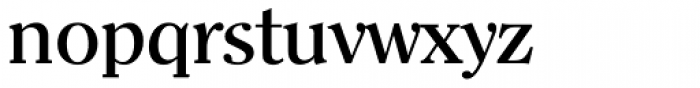 Clearface Serial Medium Font LOWERCASE