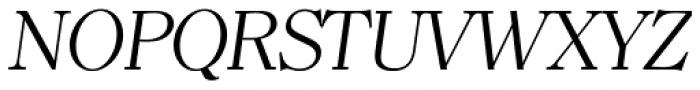 Clearface TS Light Italic Font UPPERCASE