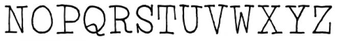 Click Clack Light Font UPPERCASE