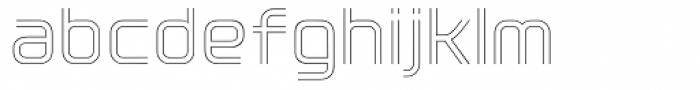 Click Light Font LOWERCASE