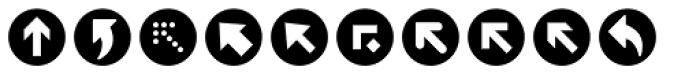 ClickBits Arrow Bullets 1 Font UPPERCASE