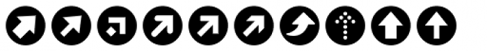ClickBits Arrow Bullets 1 Font LOWERCASE